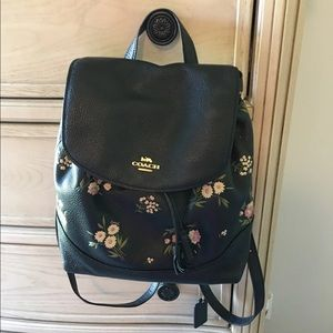Coach Floral Backpack